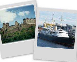 Royal Yacht and Edinburgh Castle